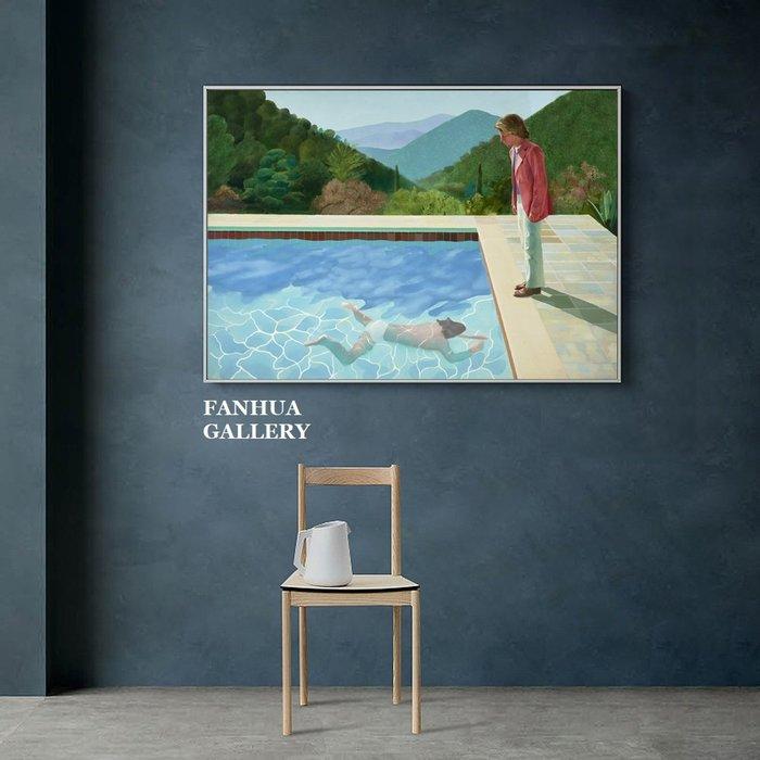 C - R - A - Z - Y - T - O - W - N David hockney 大衛霍克尼英國畫家游泳池版畫當代藝術裝飾畫工作室設計空間掛畫