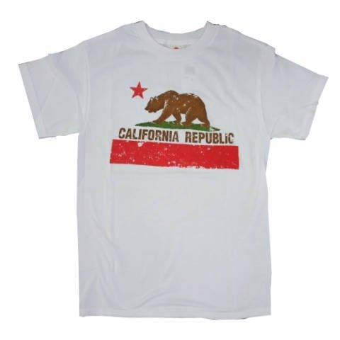 (I LOVE樂多) 美國進口 california republic 加利福尼亞共和國圖案 短袖T桖 短T