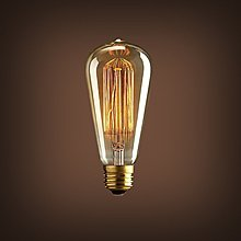 【現貨】愛迪生燈泡復古鎢絲燈泡創意吊燈裝潢燈絲燈泡E27螺口ST64工業風懷舊燈泡白熾燈泡工業風奶嘴燈泡 聖誕節裝飾燈泡燈飾SDGFF4NN29358