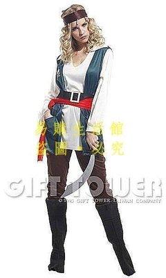 [王哥廠家直销]萬聖節化妝舞會服飾表演演出服裝 加勒比海盜船長 成人女海盜套裝 舞台舞會表演衣服裝LeGou_620_62