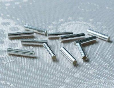 嗨,寶貝銀飾珠寶* 925純銀飾 DIY串珠配件☆直徑2.1mm直短管純銀配件 串珠