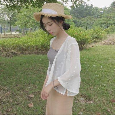 防曬衣女2018夏季新款短款柔美雪紡超...
