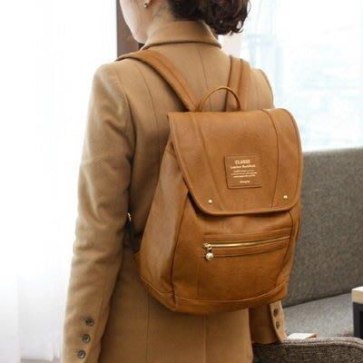 ❅PAVEE❅ 韓國monopoly~ Classy Leather Backpack 品味經典 皮革雙肩後背包