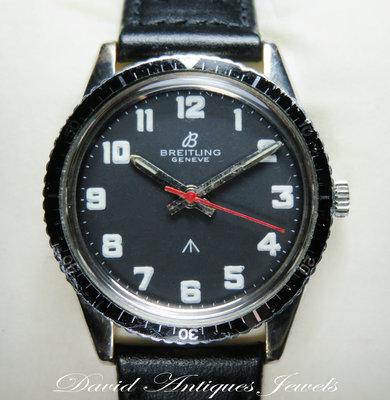 ((天堂鳥)) Breitling 百年靈罕見不鏽鋼二戰英國手上鍊軍用錶