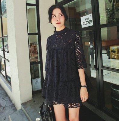 *Herstory* 【現貨。免運費】純棉刺繡立體版型短袖套裝。日本  韓國  質感 顯瘦 女神 度假