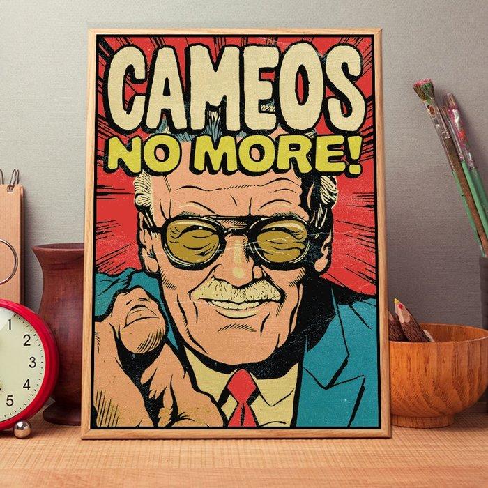 INHUASO 癮|画|所 Stan Lee史丹李漫威之父掛畫復古漫畫封面家居禮品工作室裝飾畫美式經典傳奇人物掛畫版畫