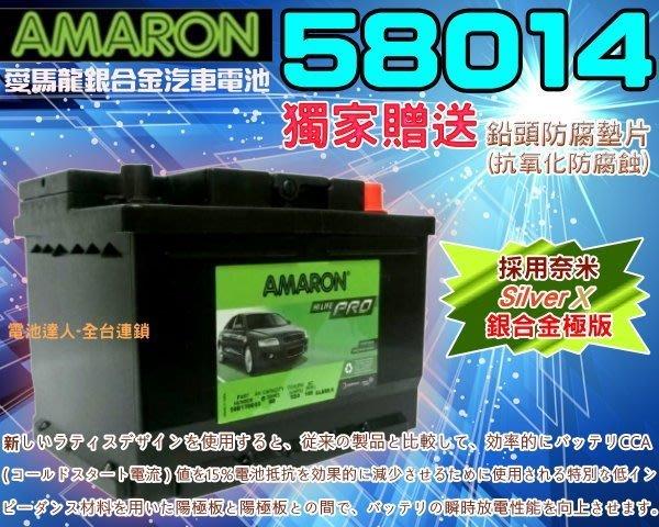 【電池達人】58014 愛馬龍 汽車電池 VOLVO 柴油車 XC60 C30 C70 S40 S60 S80 KUGA