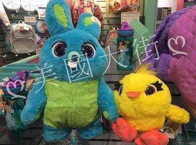 【美國大街】正品.美國迪士尼玩具總動員4兔崽子鴨霸絨毛娃娃【會說話.兩隻一組】