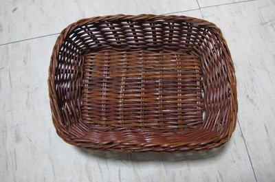 【無敵餐具】竹製長方麵包籃(166*128*42m)籐籃/竹編籃/仿籐籃 【T0152】