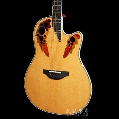 《民風樂府》2017 美廠 Ovation C2078LX-4 頂級葡萄孔圓背吉他 合身型桶身 AAA級西卡雲杉