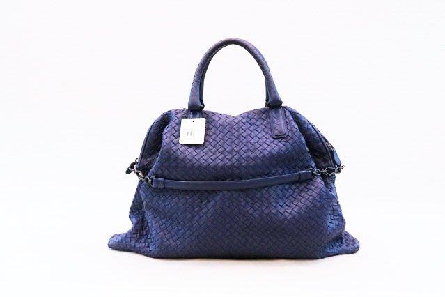【遠麗】台北大安店~A8128 Bottega Veneta 咖啡 羊皮 編織 單耳 肩背 水餃包 正品/真品