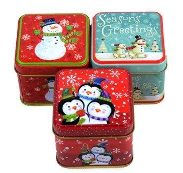 《麥斯樂小舖》聖誕方盒.聖誕鐵盒.糖果禮盒.正方盒.正方鐵盒.贈品.馬口鐵.隨機出.