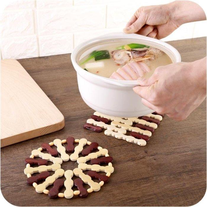 廚房餐桌隔熱墊盤子墊家用簡約竹制餐墊碗墊盤墊杯墊鍋墊 錢夫人小鋪