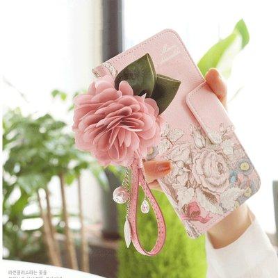 iPhone 12 pro Max Mini 翻蓋皮套 五彩玫瑰 蕾絲花朵 防摔抗震 保護殼