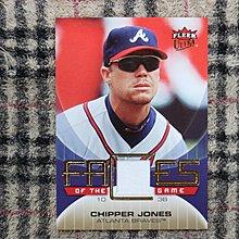 Chipper Jones 2007 Ultra 2018年最新名人堂球星 勇士扛棒 早期精美實戰球衣卡 no簽名