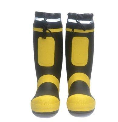 ZIHOPE 工礦雨鞋男防砸鋼包頭雨靴防刺傷鋼底膠鞋防水鞋工地勞作套鞋高筒ZI812