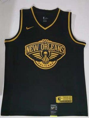 錫安·威廉森 (Zion Williamson) NBA新奧爾良鵜鶘隊 球衣 1號 黑金色