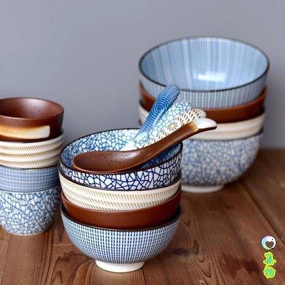 日式和風餐具碗陶瓷釉下彩米飯碗湯碗面碗泡面碗拉面碗家用實用碗