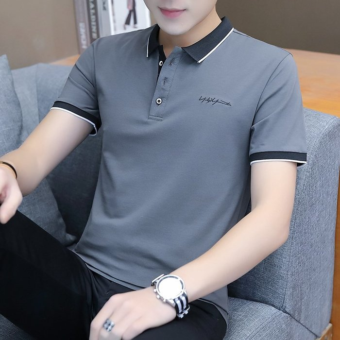 [C.M.平價精品館]L現貨/品味有型修身顯瘦短袖POLO衫