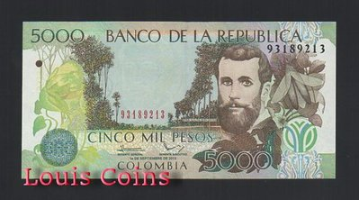 【Louis Coins】B806-COLOMBIA-2001-2014哥倫比亞紙幣 5.000 Pesos 台北市