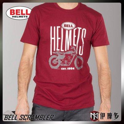 伊摩多※美國 Bell 男款經典短T恤 SCRAMBLER  T-Shirt  紅 L 另有它款