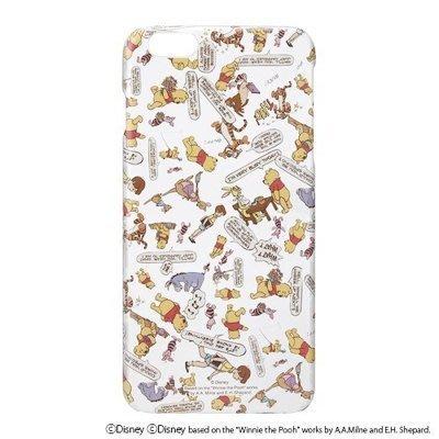 正品授權 iPhone6/ 6S 4.7吋 iJacket 迪士尼 小熊維尼 透明亂花 硬式 保護殼 手機殼 嘉義市