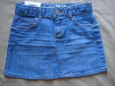【天普小棧】GAP Kids 1969 indigo denim mini skirt單寧牛仔裙短裙 腰圍可調整 5Y