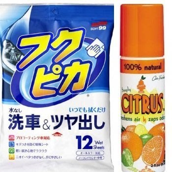 【shich急件】 武漢肺炎 車內強化衛生 有機抗菌劑 100%天然柑橘噴霧罐(2oz) +驚奇布 合購優惠429元
