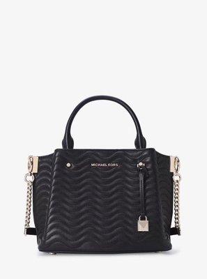 凱莉代購 MK 荔枝紋牛皮經典托特包 手提包 斜背包 多用 黑色 限量 預購