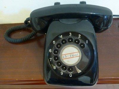 1970年代日本製古董轉盤式電話能撥打能接聽