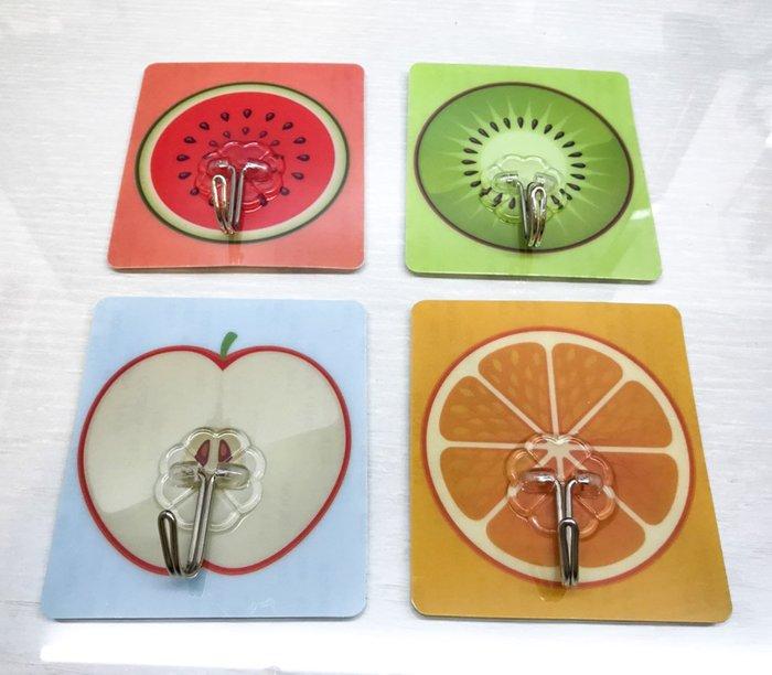 水果款式強力掛鉤 黏貼不鏽鋼掛鉤 黏膠無痕掛鉤 廚房 浴室