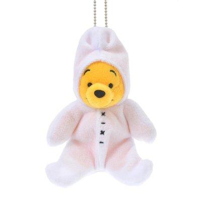 *FollowV*日本玩具《現貨+預購》許願熊 連帽連身睡衣小熊維尼 帽可脫 珠鍊絨毛玩偶/布偶/娃娃 10月迪士尼商店