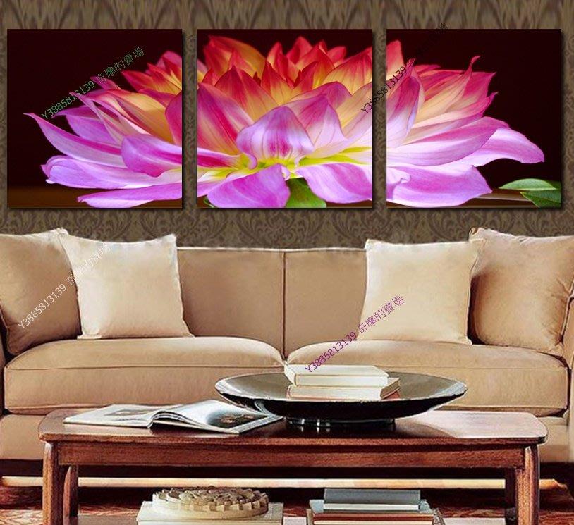 【30*30cm】【厚1.2cm】紅色蓮花-無框畫裝飾畫版畫客廳簡約家居餐廳臥室牆壁【280101_308】(1套價格)