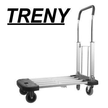 【TRENY直營】伸縮鋁製行鋁車-三段式-荷重150kg(載物板面三段式調整) 手推車 載物車 四輪車 折疊車 7077
