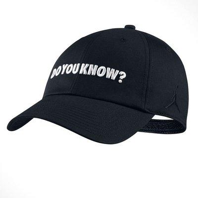 =CodE= NIKE AIR JORDAN H86 CAP 電繡棒球帽(黑白)AA3790-010 AJ3 老帽 男女