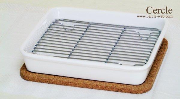 日本GRILL PLATE 方型陶器烤箱烤盤組~也可當水果盤等