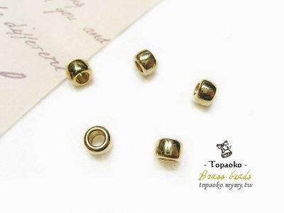 《晶格格的多寶格》串珠材料˙隔珠配件 實心黃銅厚切扁圓隔珠一份(12P)【F7292】6*4mm