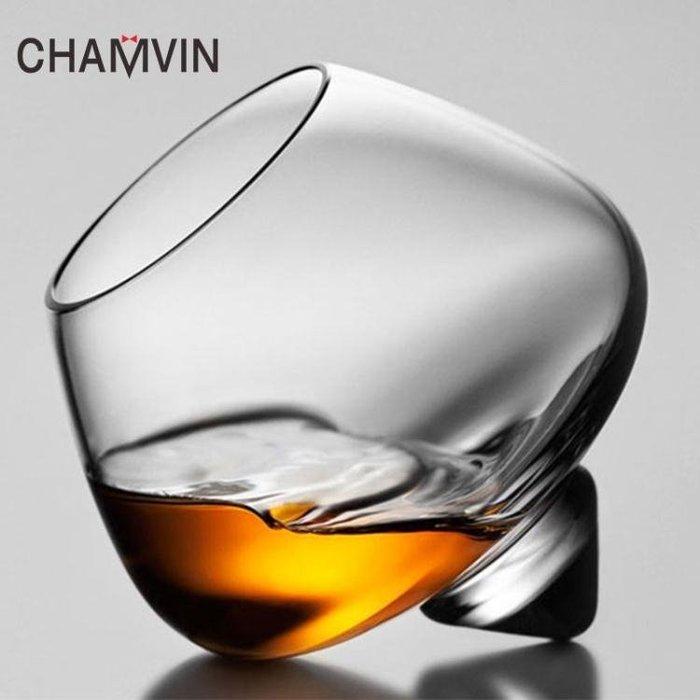 【易生發生活館】Chamvin漩渦威士忌杯洋酒杯 無鉛水晶紅酒杯手工杯酒吧家用品酒杯yi