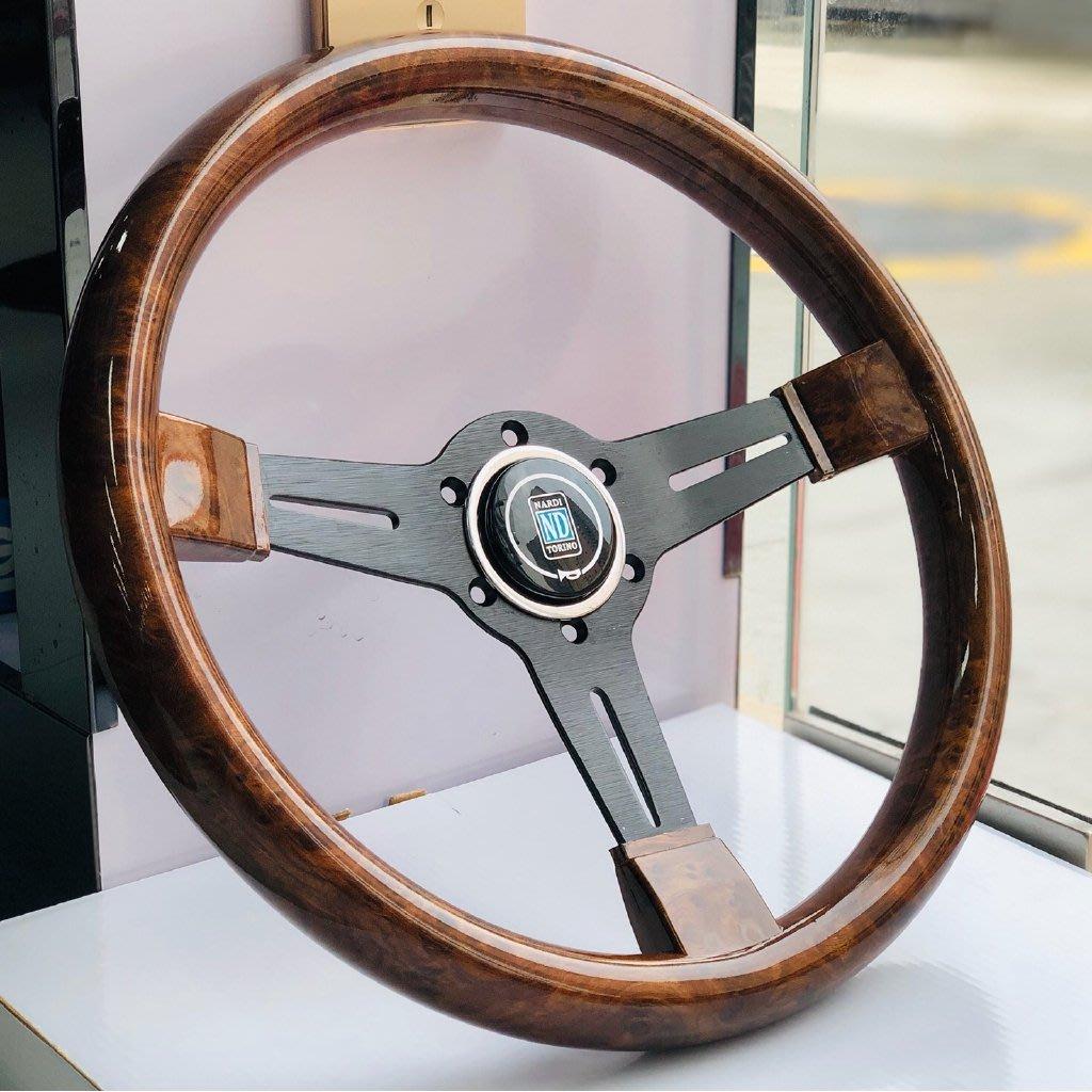 Car modified mahogany steering wheel Retro 14 inch steering    愛麗小屋@店 wdf
