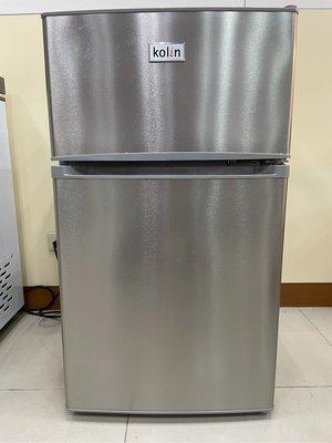 [九成新]【Kolin 歌林】100公升一級能效定頻右開雙門小冰箱(KR-SE21005-T9 不鏽鋼色)