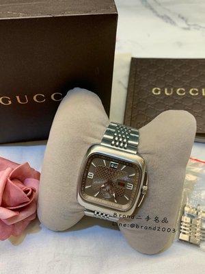 【Brand二手名品】Gucci 經典男錶 方錶 九成新 特價13888