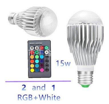 現貨 15W 帶記憶功能 變色燈泡 RGB燈泡 七彩燈泡 LED燈泡