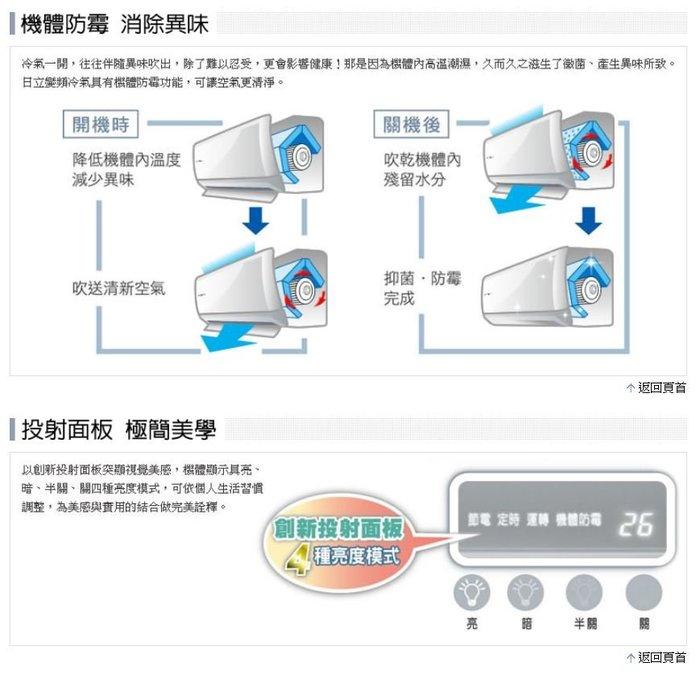 【高雄裕成.搭配裝潢】日立變頻頂級型冷暖氣RAS-25NK1/RAC-25NK1另售CU-PX28GDHA2 國際牌