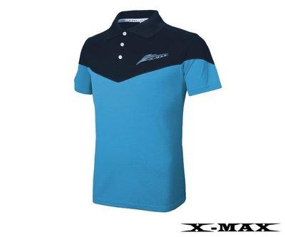 排汗王~台灣製~X-MAX~冰感翠鳥雙色短袖POLO衫~排汗衫~抗UV~吸濕排汗~