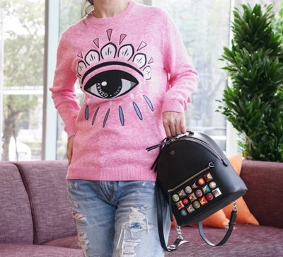 Fendi 8BZ0389 mini backpack 豆豆後背包 黑