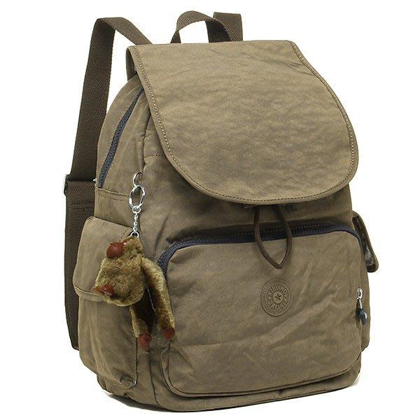 KIPLING BASIC 12147 14Z CITY PACK 後背包 翻蓋 束口 書包 小猴子♡LUCI日本代購♡