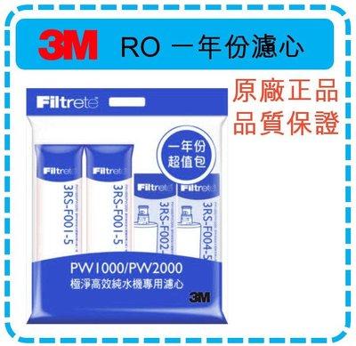 【現貨】3M PW1000/PW2000 RO 一年份濾心