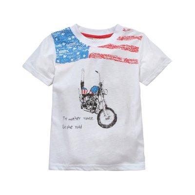 【俏寶貝 ~零碼  18M 】 寶寶短袖 T-shirt 男童 纯棉短袖上衣T恤 ~ 帥氣摩托車圖案
