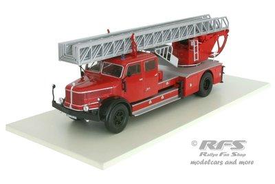 【超值特價】1:43 Atlas Krupp DL52 Fire Department 消防車