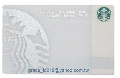 美國星巴克40周年銀色美人魚 女神 隨行卡 台灣星巴客不可使用 只收藏